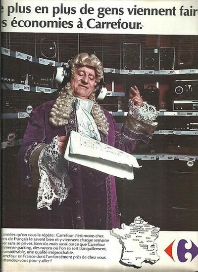 Carrefour 1974 publicite moins cher musique
