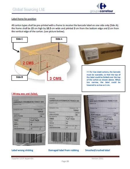 regle transport textile carrefour global sourcing 2011