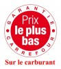 carrefour prix plus bas carburant