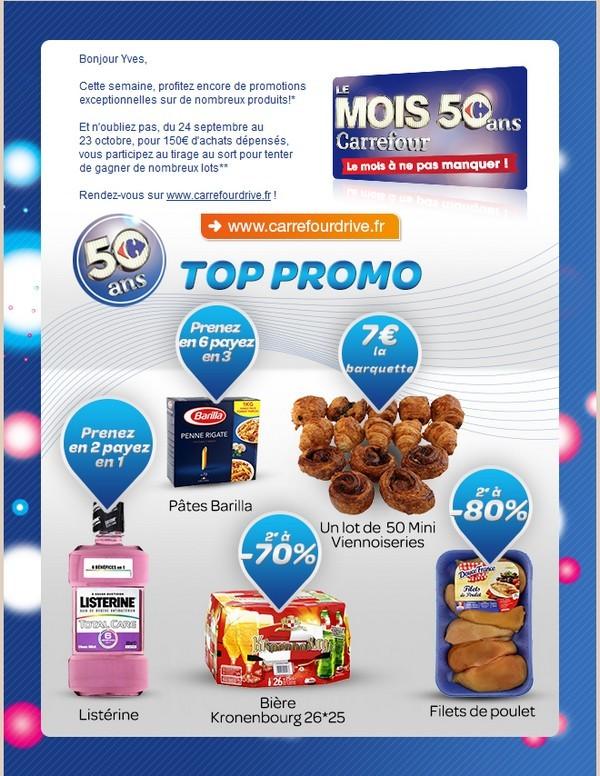 carrefour Mois 50 ans top promo
