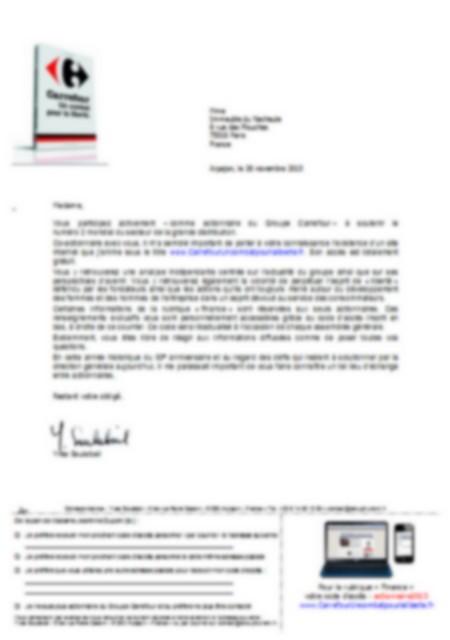courrier actionnaire carrefour