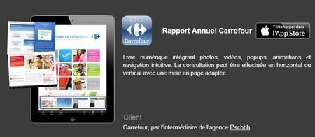 rapport annuel carrefour app store