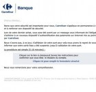 Carrefour banque : les messages frauduleux continuent