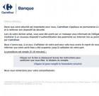 Carrefour banque : les messages frauduleux continuent