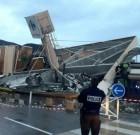 Carrefour Lingostière : une partie du toit s'effondre ce mercredi vers 17h30