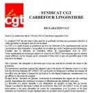 Carrefour Lingostière : la CGT fait une déclaration suite à l'accident