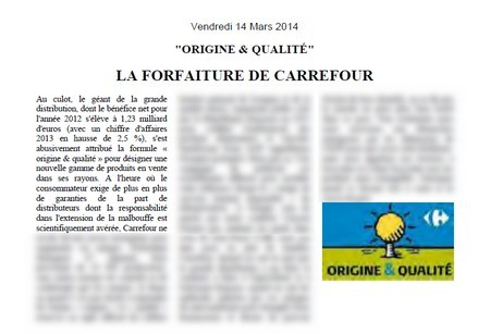 origine et qualite carrefour