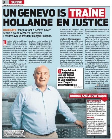 xavier kemlin plainte hollande le matin suisse