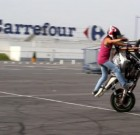 Animation freestyle moto à Carrefour