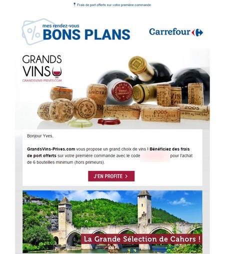 grandsvins-prives carrefour bordeau Bons plans Carrefour