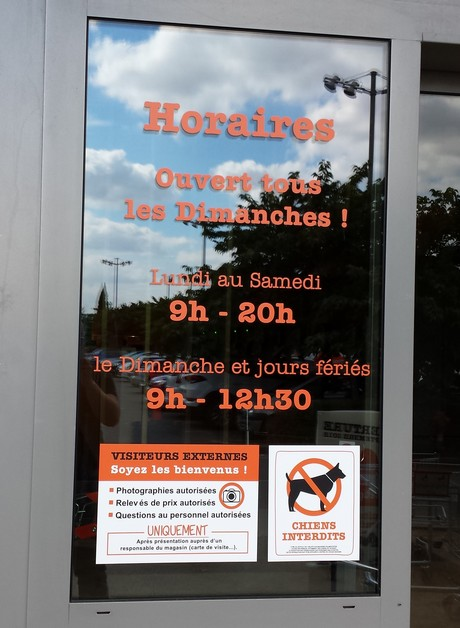 horaires du magasin O'Tera Brétigny sur Orge